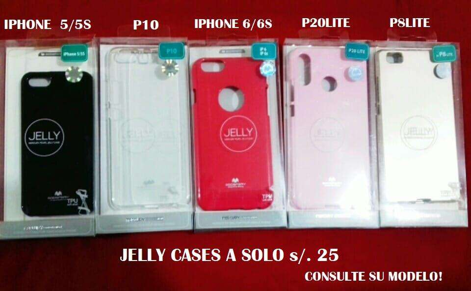 Protectores JELLY CASES para celulares