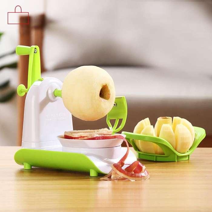 Pelador de manzana Rebanador Para Cortar En Partes