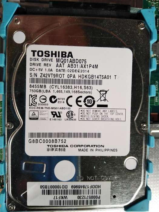 Disco Duro de 750 Gb