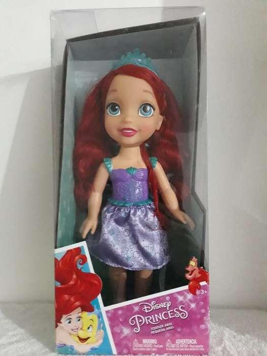 Muñecas Princesas Ariel Y Bella de 30 Cm