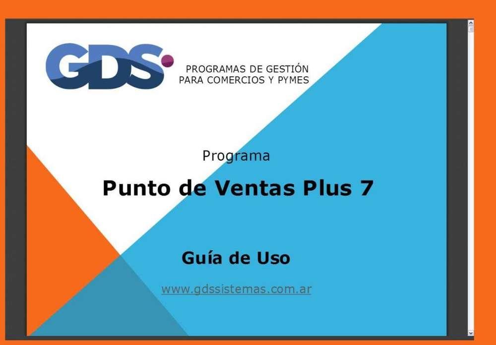 ** PUNTO de VENTAS PLUS 7 ** fácil manejo * programa apto factura ELECTRÓNICA * Software GDS Sistemas