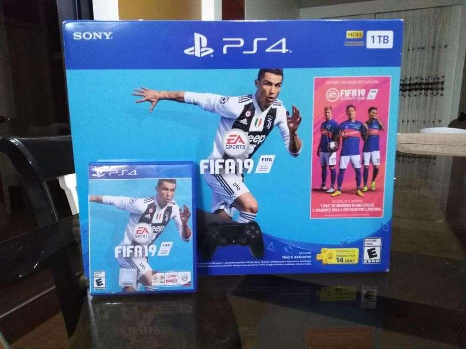 PS4 1TB incluye FIFA19 Mando adicional ! perfecto estado
