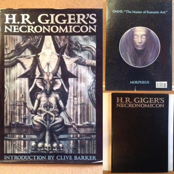 H.R. Giger's Necronomicon I II colección raros