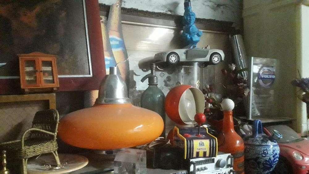 Antigua Orange Lampara Diseño 70s