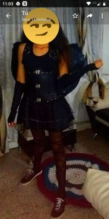Disfraz Angelita Negra