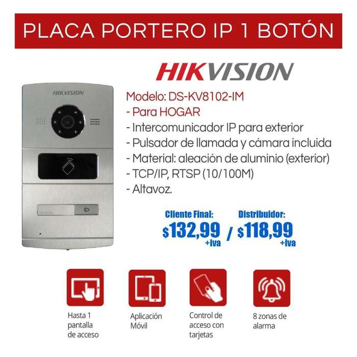 Video-portero ip hikvision-pantallas touch-placa ip de 1/ 2/4/ Edificios /Quito-Guayaquil