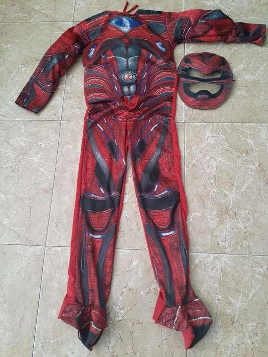 Disfraz Power Reanger Rojo Talla 6