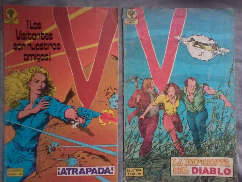 v invasion extraterrestre historietas comics