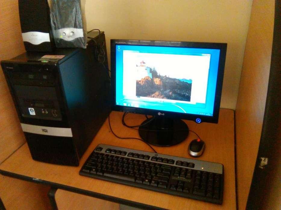 COMPUTADOR COMPLETO CORE 2 DUO 2 GB RAM 160 GB DISCO DURO WINDOWS 7 PARA CIBER ESTUDIANTE OFICINAS