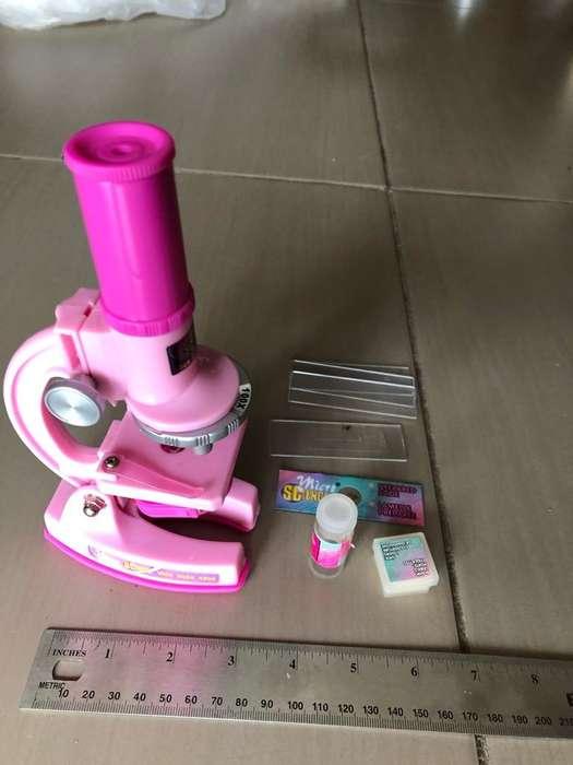 Microscopio de Juguete 100X 250X 450X