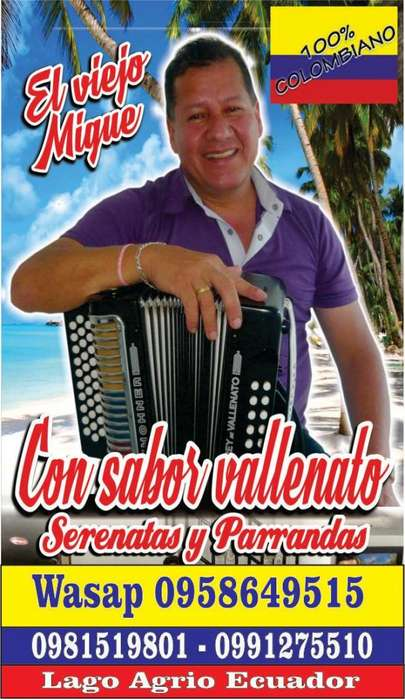PARRANDON VALLENATO 0991275510 LAGO AGRIO ECUADOR