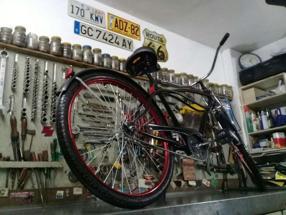 Bicicleta Playera Larga 26 Suspension