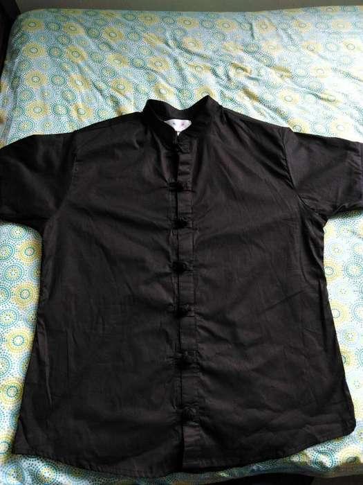 Camisa cuello romano