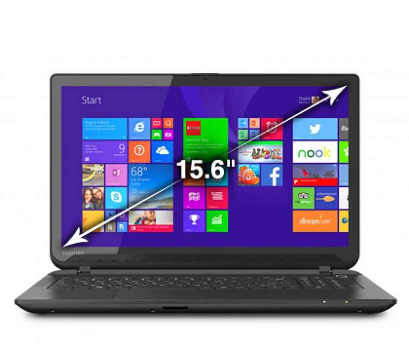 SUPER LAPTOP TOSHIBA C55TB5109 I3 4 GEN. 1.70 GHZ 3.5 GHZ TURBO 4 CPUS 15.6 TACTIL 4 RAM 500 GBB 2 GB VIDEO DVD RW