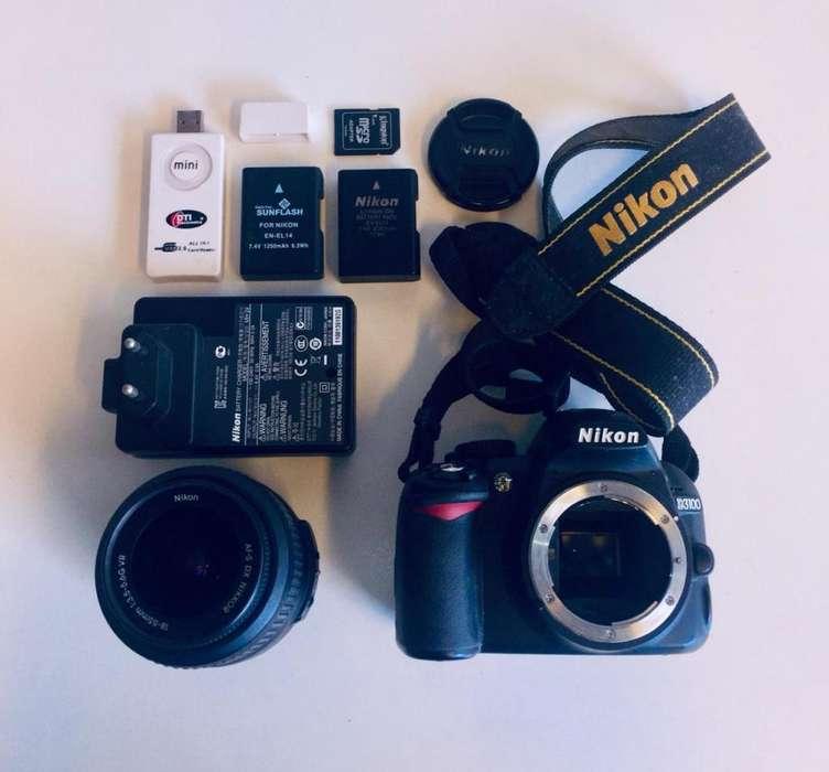 Nikon D3100 poco uso KIT COMPLETO!
