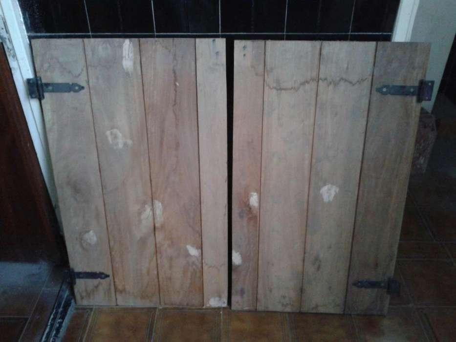 Postigos de madera nuevos