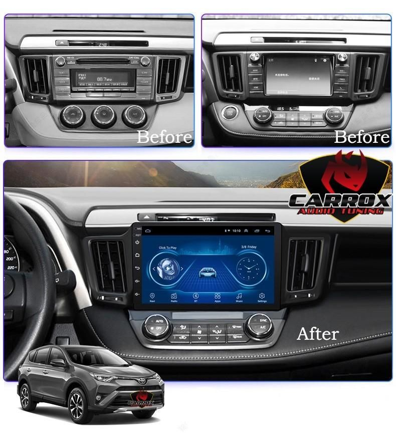 RAV4 TOYOTA 2013 2017 ANDROID WIFI GPS CD DVD USB BLUETOOTH AUTORADIO MAS CAMARA DE RETROCESO MODELO ORIGINAL