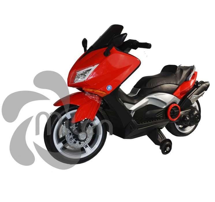 Moto electrica tipo Biwis para niños montable, luces LED