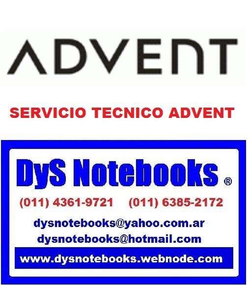 ADVENT SERVICIO TECNICO NOTEBOOK NETBOOK LAPTOP