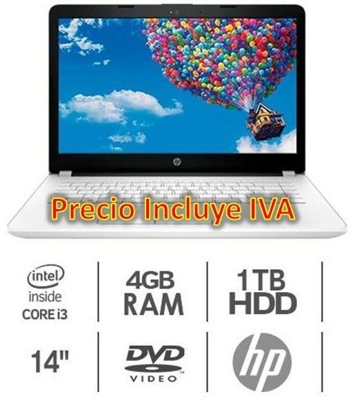 Laptop Portátil Hp Core I3 14bs011la 4gb 1tb Led 14, I5 i7 PRECIO INCLUYE IVA ENTREGA A DOMICILIO