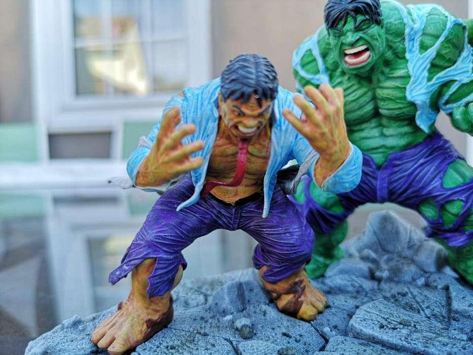 diorama hulk figura de resina
