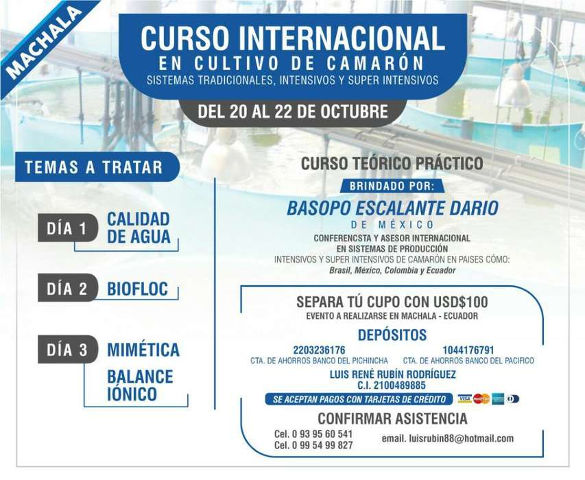 Curso Inter. Mimética, Biofloc, Bal. Ión