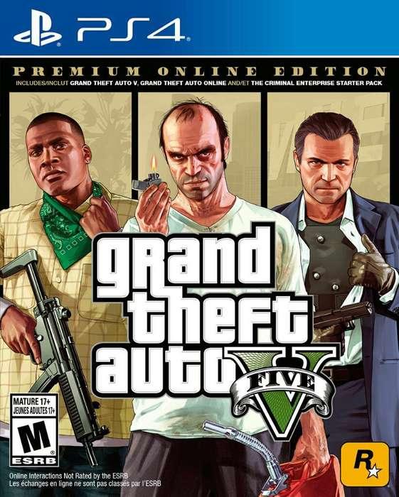 Juego Ps4 Grand Theft Auto V Gta V Nuevo