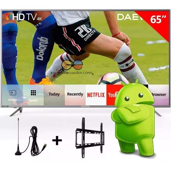 Daewoo <strong>televisor</strong> Led 65smart Tv Uhd 4k Android 6.0 Netflix