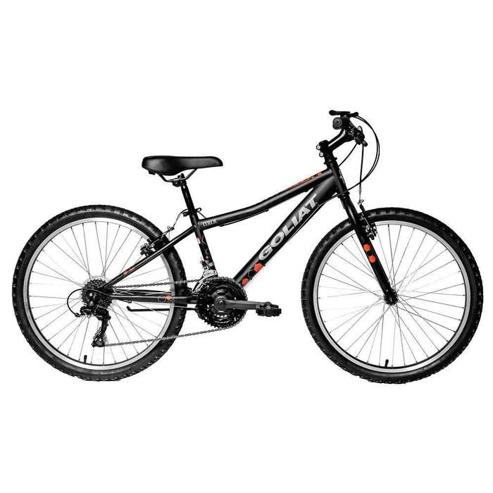 Bicicletas nuevas Goliat Colca aro 24 con frenos shimano acabado en negro mate