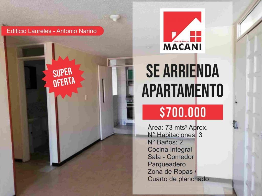 Se Arrienda Apartamento Edificio Laureles - Antonio Nariño
