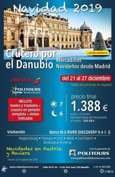 Viaje Navidad 2019 CRUCERO POR EL DANUBIO con Viajes la Corona