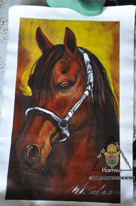 venta de obras de arte en oleo caballos