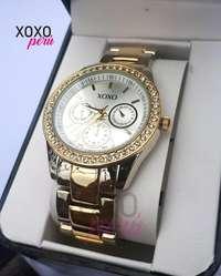 175b40164318 ... Reloj de moda para dama Marca Xoxo plateado con dorado ...