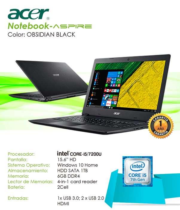 NoteBook ACER ASPIRE Core i5 7200u / 15,6