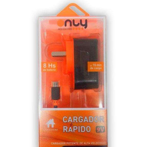 Cargador Rapido 9v Only Ac86 NUEVO!