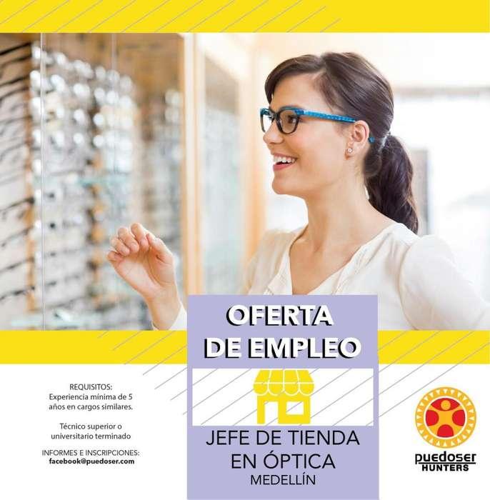 Jefe de tienda Óptica Medellín