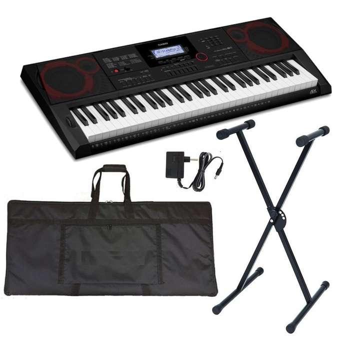 Combo Casio CT-X5000 Piano estuche base adaptador