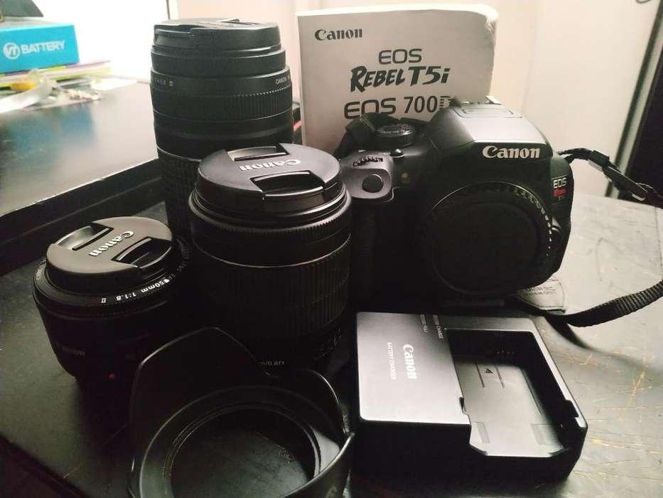 Canon T5i 3 Lentes Y Accesorios