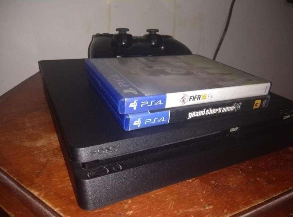 Playstation 4 Slim 1tb, Gta V, Fifa 16