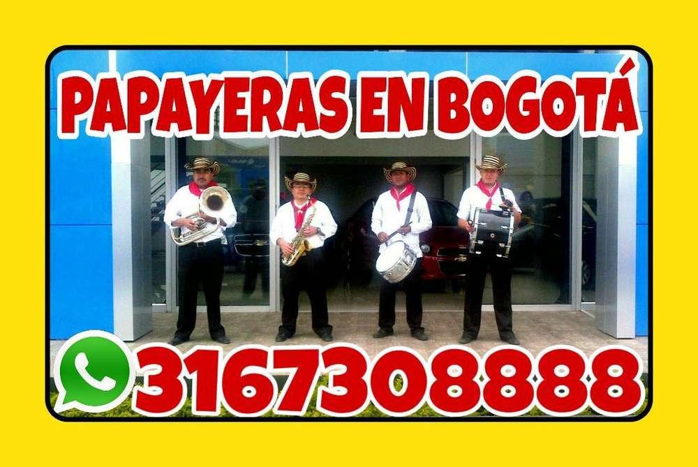 3167308888 bandas papayeras en Bogotá