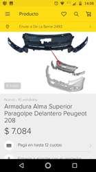 Vendo Alma Delantera Peugeot 208