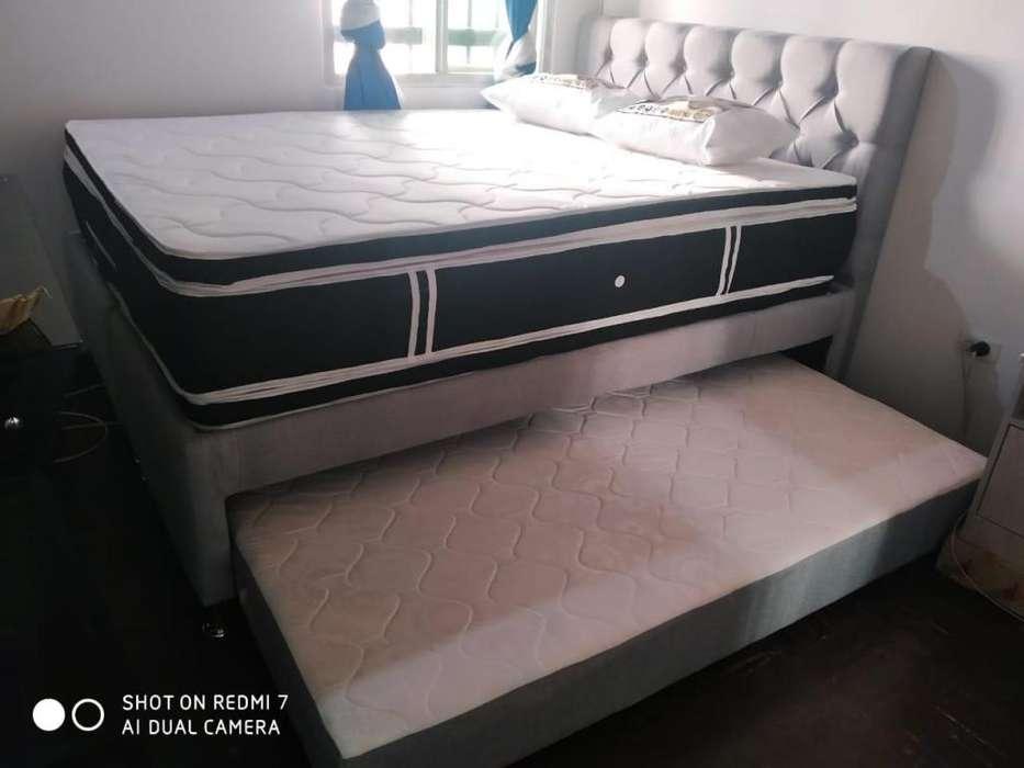 Base <strong>cama</strong> DUPLEX son dos bases en una con COLCHÓN de <strong>cama</strong> auxiliar incluido y Envió gratis