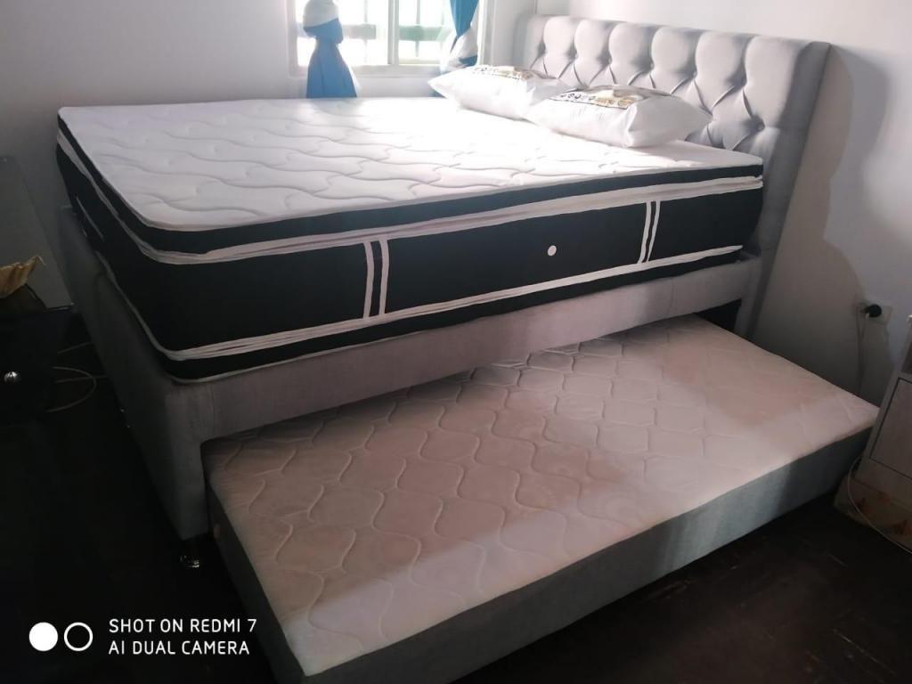 Base cama DUPLEX son dos bases en una con COLCHÓN de cama auxiliar incluido y Envió gratis