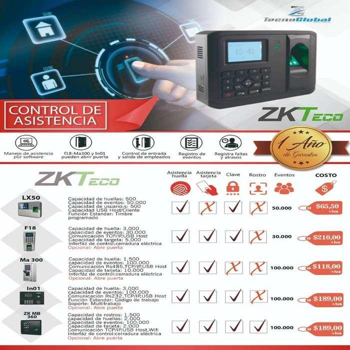 Reloj Biometrico control de asistencia registro de empleados Zkteco lx50 ma 300 . Control de acceso con huella tarjeta