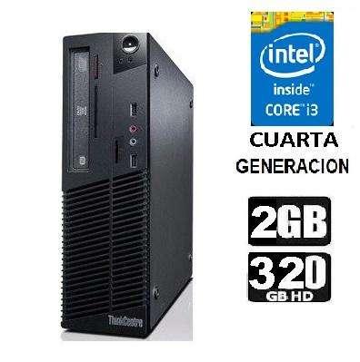 CPU LENOVO CORE I3 4TA. GEN. RAM 2GB HDD 320 GB / SOMOS TIENDA MASTER TEC 1.0