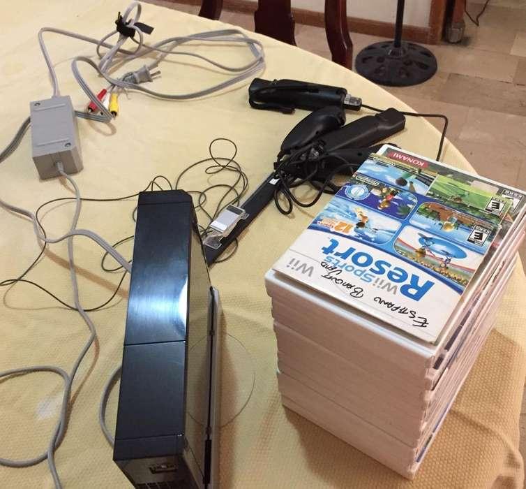 Nintendo Wii con 2 Palancas Y 15 Juegos.