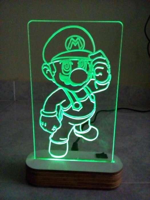 Lámpara led Mario Bros