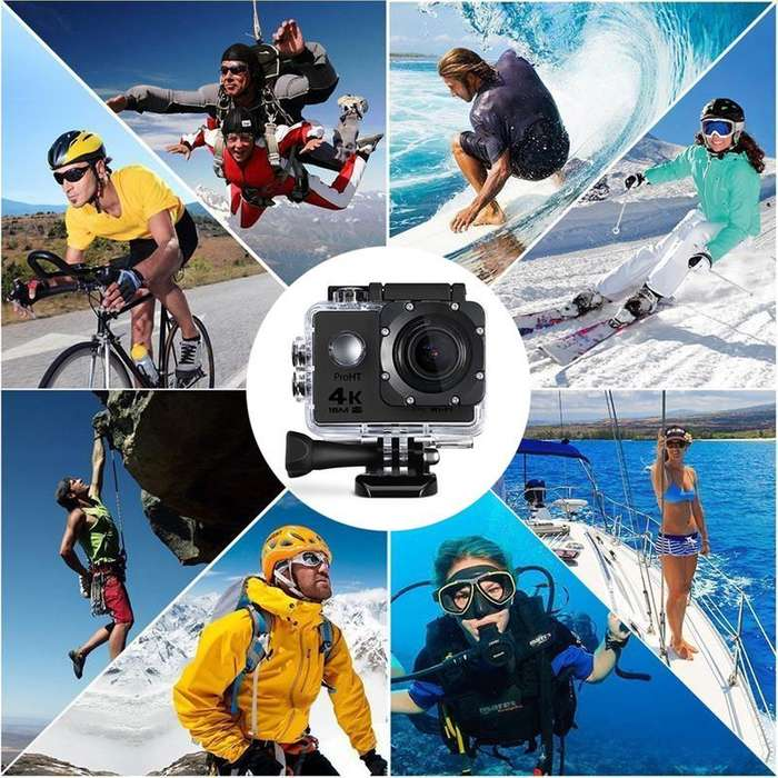 cámara De Acción Wifi Go Pro Ultra Hd 4k Impermeable