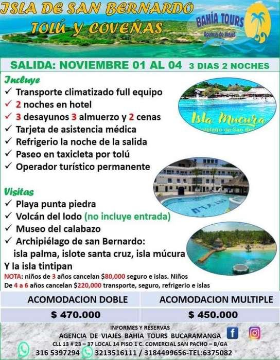Tour Tolu Coveñas Noviembre