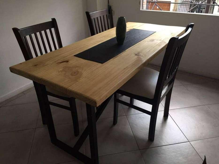 Mesa <strong>comedor</strong> de hierro y madera